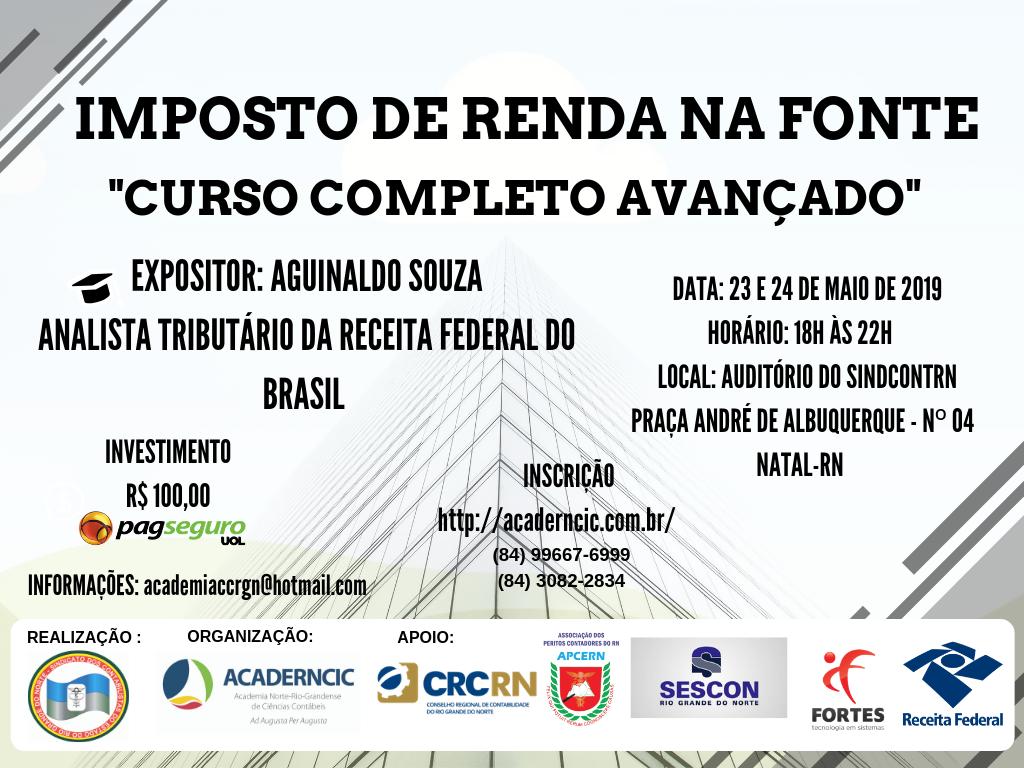 IMPOSTO DE RENDA RETIDO NA FONTE com Aguinaldo Souza
